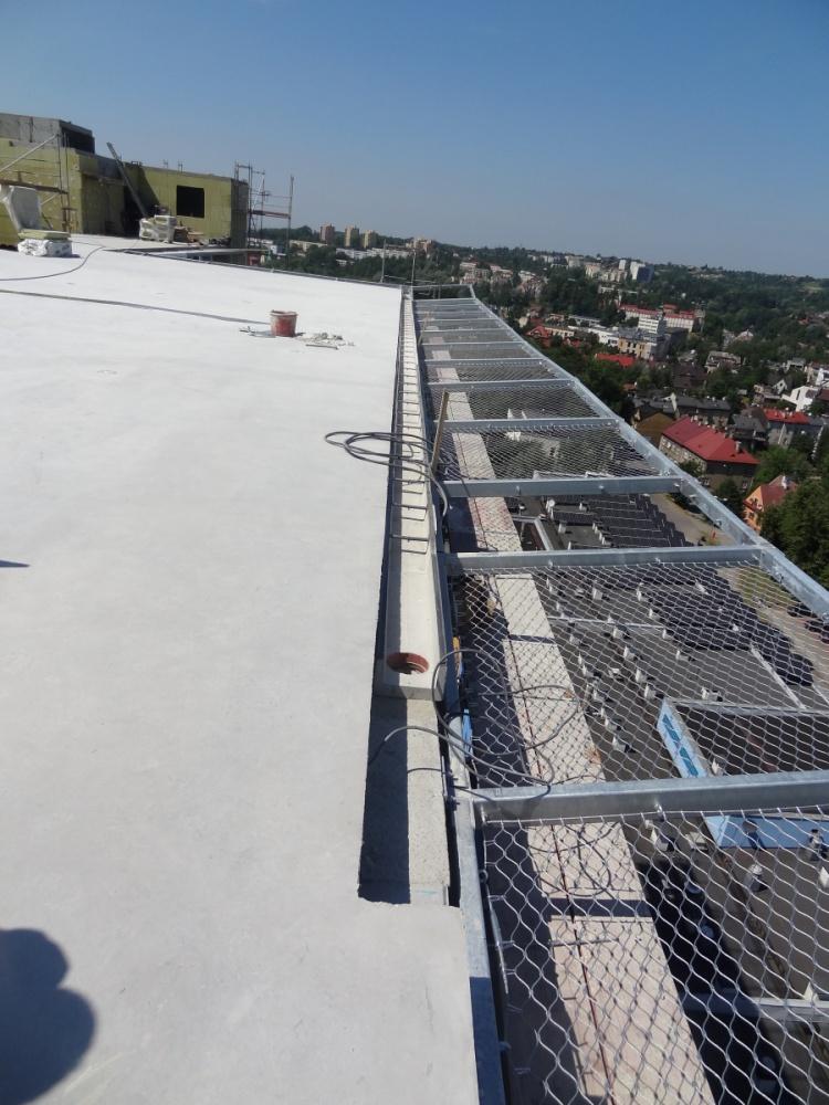 Lądowisko szpitala miejskiego w Cieszynie zastosowane odwodnienia liniowe Markpol bez kraty żeliwnej